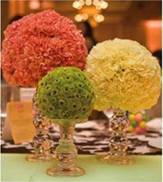Colourful flower balls  #Pinned by Devika Narain