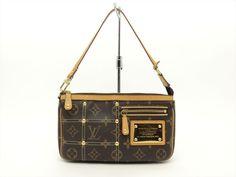 Louis Vuitton Authentic Monogram Rivets POCHETTE Accessoires Riveting POUCH Bag #LouisVuitton #CosmeticBags