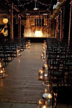 18 Beautiful Ways To Use Candles At Your Wedding ❤ You could use wedding candles in your centerpiece arrangement, decorate tables and chairs. See more: http://www.weddingforward.com/wedding-ideas-with-candles/ #wedding #candles