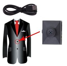 Button Camera Mini Hidden Camera with TF Card Slot, Motion Detection and Loop Recording - Those Cheating Bastards Best Home Security, Security Cameras For Home, Wireless Home Security Systems, Security Alarm, Best Alarm, Wireless Video Camera, Button Camera, Hidden Camera, Spy Camera