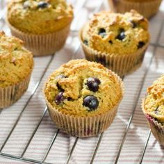 Blueberry Paleo Muffins - Cook Eat Paleo