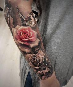 Rose and butterfly tattoo 50 Magnolia flower tattoos sleeve tattoo . Check more at https . - Rose and butterfly tattoo 50 Magnolia flower tattoos sleeve tattoo … - Model Tattoos, Body Art Tattoos, New Tattoos, Tatoos, Tattoo Ink, Portrait Tattoo Sleeve, Usa Tattoo, Tattoos Skull, Sister Tattoos