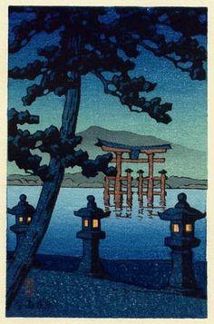 Itsukushima Shrine, Miyajima by Kawase Hasui