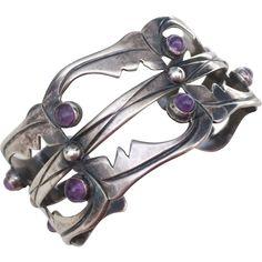 Early Mexican Silver Bracelet, circa 1930-40's