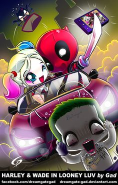 Same as Baby Deadpool I went to brand ECH! and babyized another popular nut job in Harley Quinn!