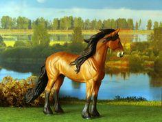 2011.Custom painted CollectA friesian model horse. Custom by Zane Lahdenranta ( Frosty Birch Studio)