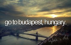 Before I die: Budapest Oh The Places You'll Go, Places To Visit, Travel Around The World, Around The Worlds, Visit Budapest, Budapest Hungary, Life List, Adventure Is Out There, Budapest