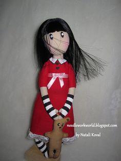 Mimin Dolls: Doll base Suzanne Woolcoltt. Make your own cute little stuffed doll.
