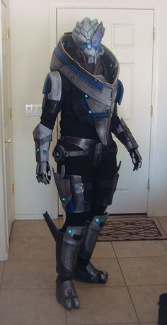 """Whoever made this should never stop wearing it. Imagine going to work and when someone compliments you on a job well done tell them """"I'm a turian, it's all sort of expected"""""""