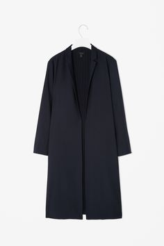 MINIMAL + CLASSIC: COS Long blazer with pleated lining