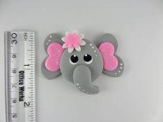 Adorable elefante. Scapbooking encanto Handmade Clay