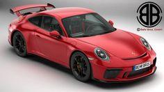 Porsche 911 GT3 2018 3D Model .max .c4d .obj .3ds .fbx .lwo .stl @3DExport.com by Behr Bros