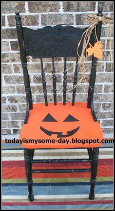 Cute cute pumpkin chair !