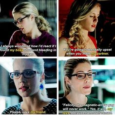 the evolution of olicity Arrow Felicity, Oliver And Felicity, Felicity Smoak, Arrow Tv Series, Cw Series, The Cw Shows, Dc Tv Shows, Supergirl Dc, Supergirl And Flash