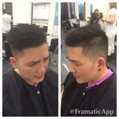 Male haircut #men #fade