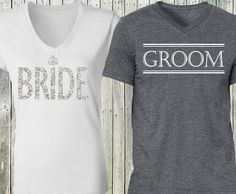 Perfect for Wedding Events or the Honeymoon! Celebrate your Engagement or Honeymoon with these matching couples shirts. Groom Shirts, Bride Shirts, Wedding Shirts, Wedding Gifts For Bride And Groom, Bride Groom, Wedding Tips, Wedding Events, Wedding Planning, Wedding Reception