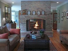 small family rooms with fire place  | Small Family Room Idea With Fireplace |Modern Family Room Design ...