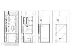 Mexican studio S-AR designed a single family house in Monterrey that presents a textured surface made with concrete blocks, arranged to avoid an overheating of the front walls. Home Design Plans, Plan Design, Narrow House, Ares, Concrete Blocks, Interior Architecture, House Plans, Floor Plans, Diagram