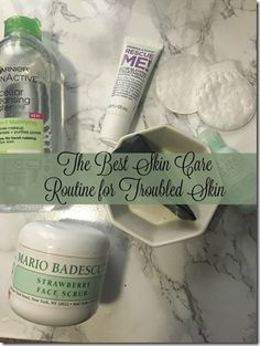 The Best Skin Care Routine for Troubled Skin http://mamistimeout.com/2017/03/07/best-skin-care-routine-troubled-skin/ #garnier #mariobadescu #lush #skincare