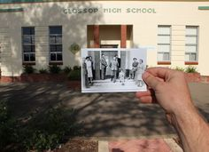 Another then and now photo project idea that would be fun.