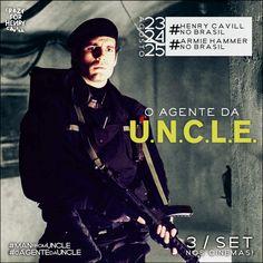 Haja coração. Apenas 20 dias ,para recebermos os agentes @ManFromUNCLE,no Brasil.#oagentedauncle #henrycavillnobrasil