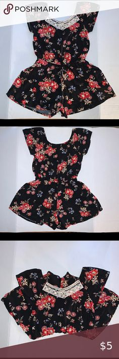 NEW Gymboree Girls Purple Floral Spring Summer Dress Size 4 5 6 NWT One Piiece