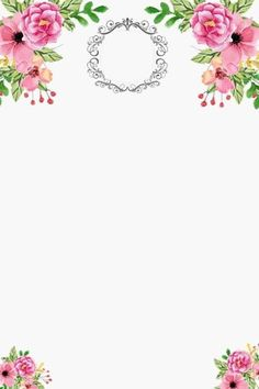 Makeup Backgrounds, Flower Backgrounds, Watercolor Wallpaper, Watercolor Flowers, Christening Invitations, Birthday Invitations, Flower Frame, Flower Crown, Boarder Designs