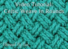 Tutorial: How to Crochet the Diagonal Celtic Weave in Rounds | Charmed By Ewe