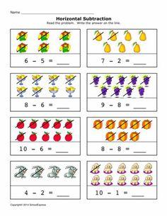 7 pinterest subtraction worksheets worksheets and math. Black Bedroom Furniture Sets. Home Design Ideas