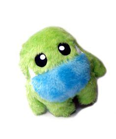 Big Fluse Kawaii Plush cute Monster Mauli  green blue door Fluse123