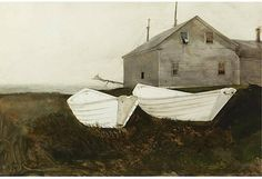 Andrew Wyeth Painting of Boats