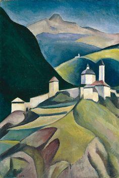 Alexander Kanoldt, Bergdorf (Kloster Säben), 1920, Auktion 882 Moderne Kunst, Lot 778 #nkvm