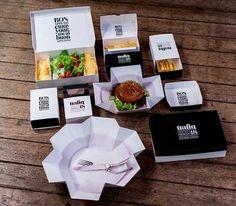 El diseño tipográfico llega a un fast food. Trafiq