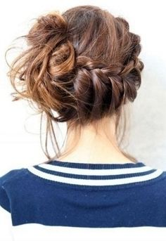 26 Updos for EveryDay Hair ...   This side bun is an adorable look that will be fun to try out. Add a spunky braid into the mix and you've got yourself a flawless updo!