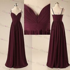 Elegant Handmade Long Sweetheart Straps Simple Prom Dresses, Long Prom Gowns, Bridesmaid Dresses, W on Luulla