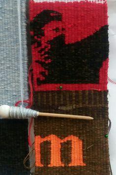 Banksy goes textile By manuel wandl 2018 Weft-Wool; Banksy, Weaving, Textiles, Wool, Cotton, Loom Weaving, Crocheting, Fabrics, Knitting