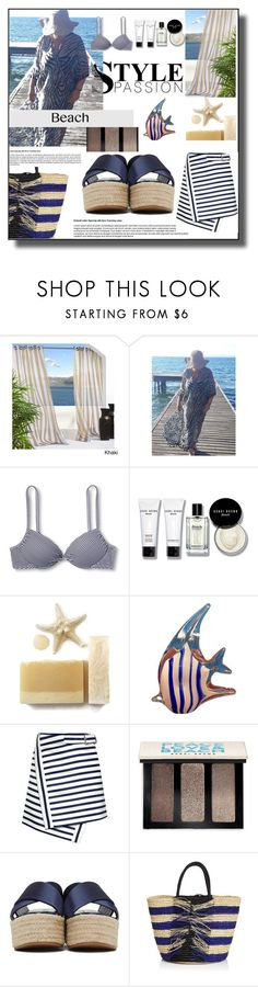 """Beach Style"" by sabine-713 ❤ liked on Polyvore featuring Xhilaration, Bobbi Brown Cosmetics, Murano, Carven, Miu Miu and Sensi Studio"