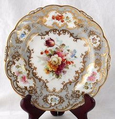 COALPORT HAND PAINTED PLATE WITH FLORAL DECORATION #DessertPlates