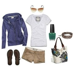 Perfectly preppy. Would match with a cardigan instead of a zip up.