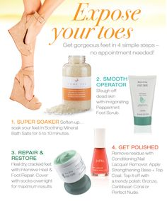 Expose Your Toes: Get Gorgeous Feet in 4 Simple Steps! Visit www.myjafra.com/jafrabylisa for more product info!
