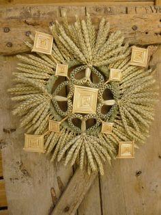 wheat wreath van Lagrangeauble op Etsy