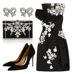"""Soñar despierto"" by romaosorno ❤ liked on Polyvore featuring Erdem, Judith Leiber, Gianvito Rossi and M&Co"