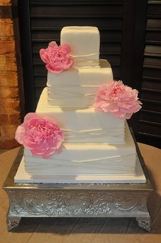 Square Wedding Cake | Flickr - Photo Sharing!