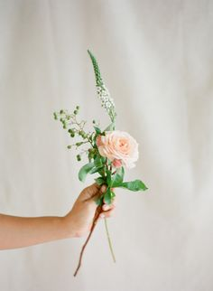 Sweet gestures like a handpicked flower can ease the tension of wedding planning. More tips here: http://www.stylemepretty.com/collection/2619/