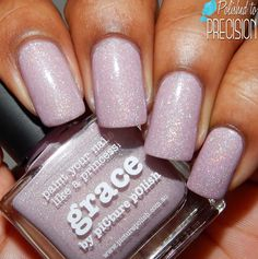 piCture pOlish: ☆ Grace ☆ ... a muted pink scattered holographic nail polish that dries smooth on the nail.