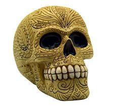 Bone Colored Day of the Dead Sugar Skull Coin Bank Mexican Dia De Los Muertos