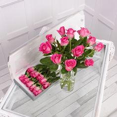 Our 12 pink letterbox roses are a gorgeous gift for someone special! Add a message to the gift card to create a romantic gift for any occasion! Letterbox Gifts, Flower Food, Pink Roses, Great Gifts, Floral Wreath, Romantic, Flowers, Prints, Cards