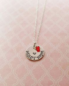 Heart Mom Necklace by LoveStackJewelry on Etsy only $25.00