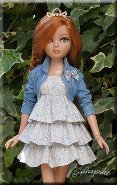 Essential Ellowyne Four in a beautiful ruffled dress by Micki of Silkspike Dolls