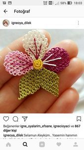 This Pin was discovered by Fik Smocking Patterns, Tatting Patterns, Baby Knitting Patterns, Crochet Patterns, Ribbon Embroidery Tutorial, Silk Ribbon Embroidery, Hand Embroidery, Needle Tatting, Needle Lace